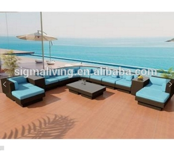 New arrival nice garden furniture large sofa sets modern cane couches