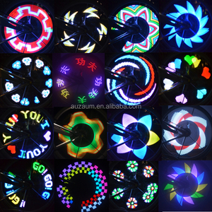 3*AAA battery 32pcs four color led flash 20RGB pattern led bicycle wheel light