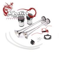 kylin racing 145DB zinc alloy Truck Air Pressure Horn Speaker 12V Elephant Auto Car White Buffalo Air Horn