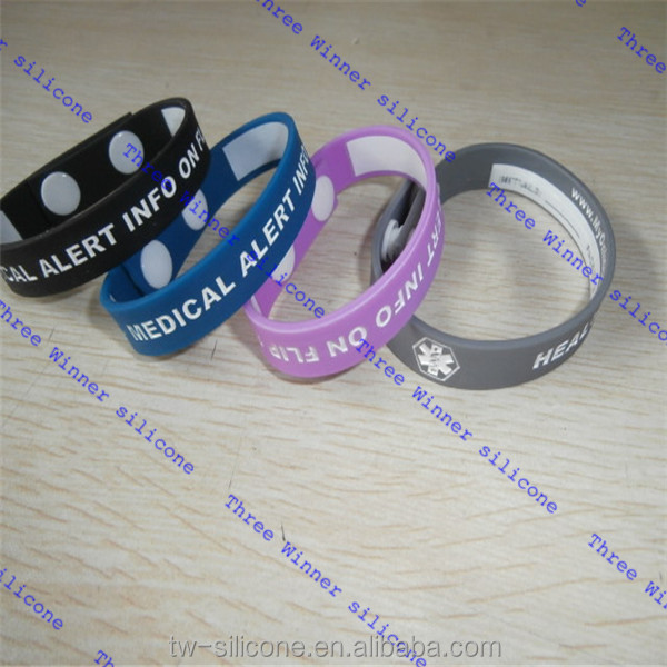 Keep Kids safe silicone writable id wristbands 2017