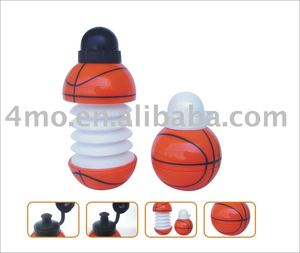 450ml Stretch and draw back basketball sports water bottle