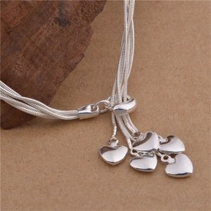 529 online shop china necklace heart import silver jewelry