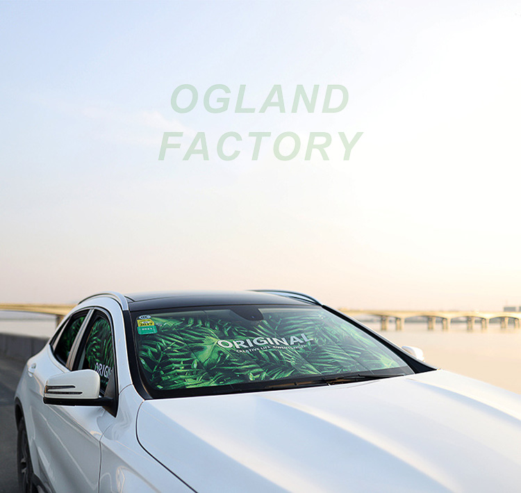 OGLAND Car Windshield Sun Shade Universal Size 27 50 Sun Visors Covers for Ordinary Car Reflective Foil Anti-UV Curtain Front Auto Window Cool Sucker Fixed
