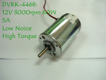 12V 3000rpm High Torque Permanent DC Motor RK-4468-1230