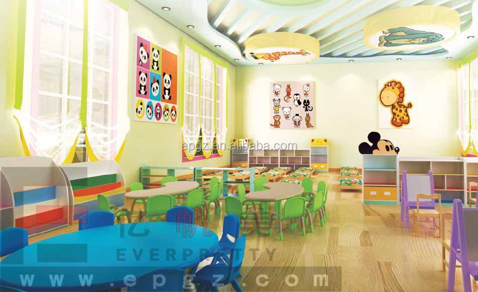 Modern Classroom Activities ~ Made in china cartoon design wooden furniture children