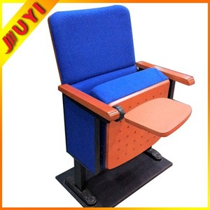 JY-600 Folding Cover Fabric Cinema Cheap Theater Chair Wooden Used Hot Selling Conference Church Price Auditorium Chairs