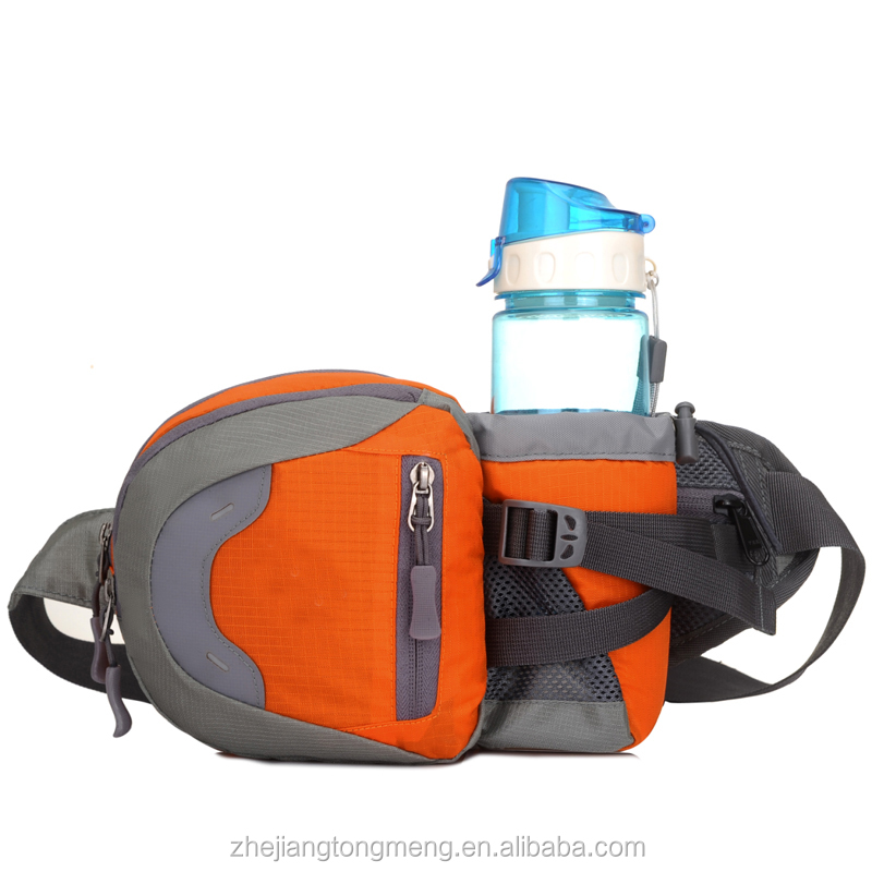 Grey and Orange Waterproof Polyester Waist Running Bag Manufacturer