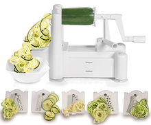 2018 Amazon best supplier Spiralizer 5 Blade Vegetable Slicer with high quality