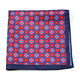 high end handkerchief 100%silk cotton linen or polyester flower pocket square DPS5400C