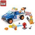 ENLIGHTEN New 207Pcs City Series Road Wrecker Model Building Blocks Set Assembling Bricks Educational Toys For