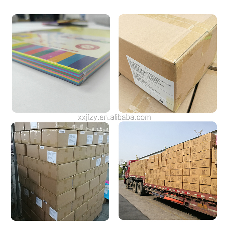 High Quality wood pulp uncoated matt thick board 70g 80g 180g 300g DIY handicraft A4 Color Paper