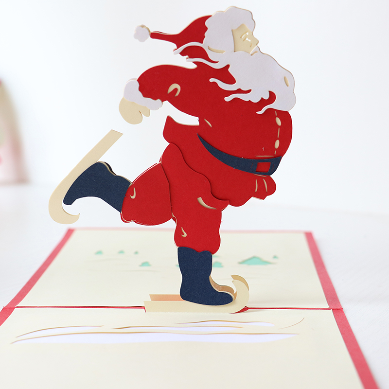 3D Santa Claus Pop Up Weihnachtsgrußkarte