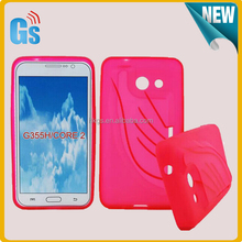 Unique Style TPU Cover For Samsung Galaxy Core II 2 SM-G355 Case With Loudspeaker