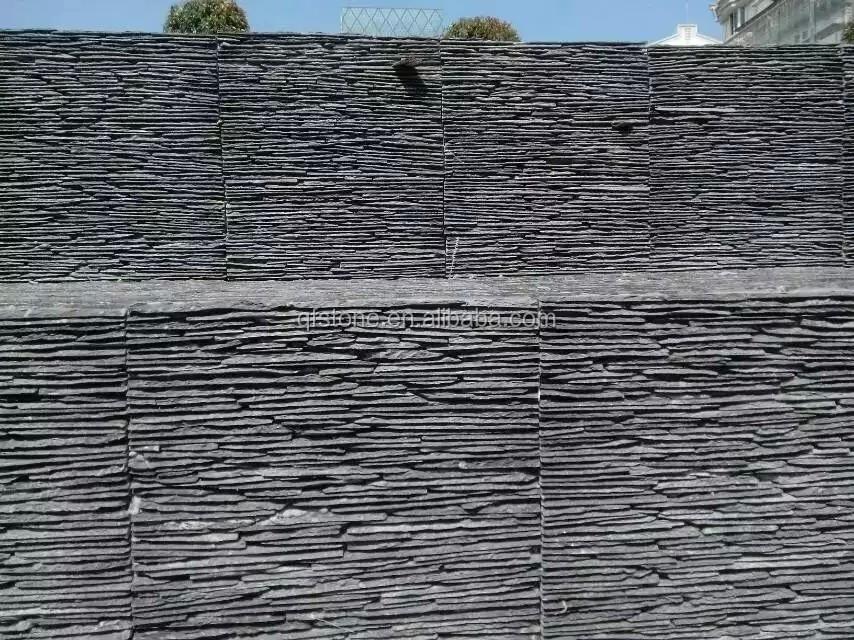 Black Stone Panel Slate Wall Cladding Waterfall Stone - Buy Wall ...