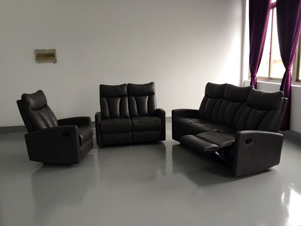 Nice Modern Leather Sofa For Slim Recliner Set 321