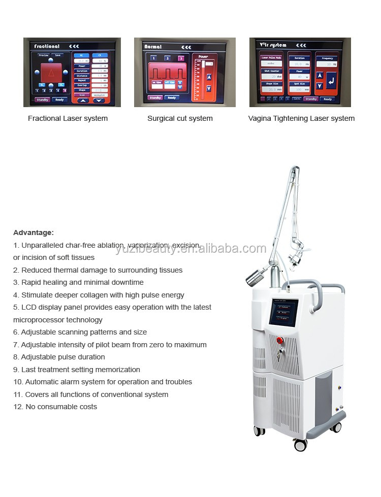 Co2 Fractional Laser For Scar Removal Beauty Equipment