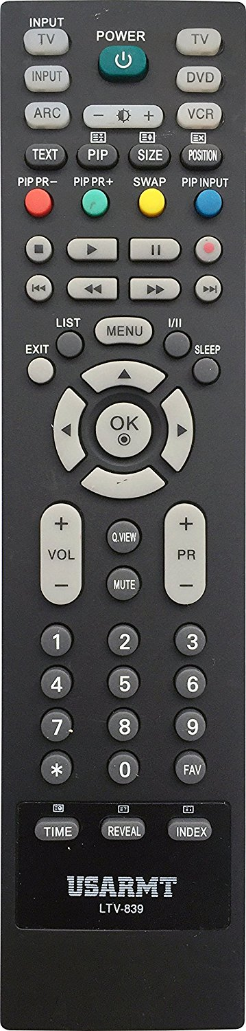 New LG Replaced Remote Control LTV-839 for LG LCD LED HDTV DVD player VCR