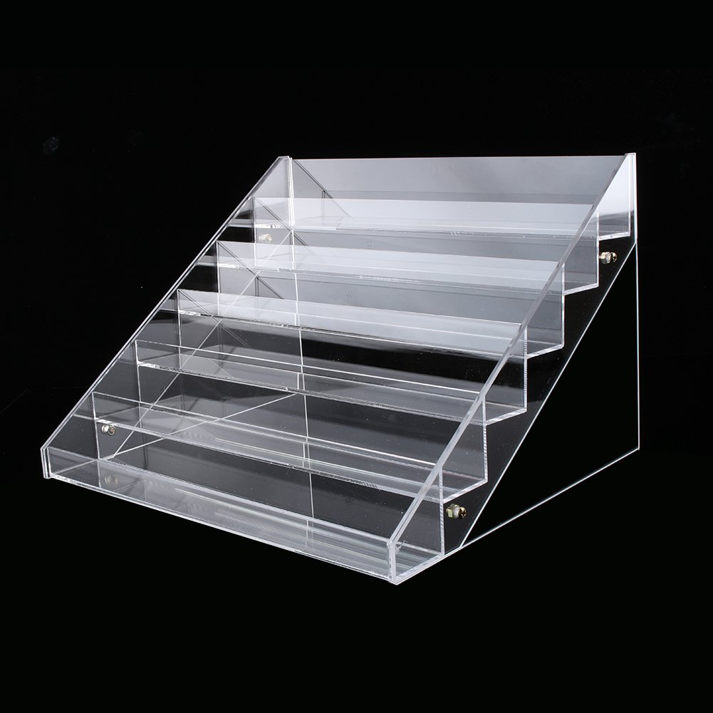 Nail Polish Table Rack, Acrylic Clear Makeup Display Stand Rack Organizer Holder Fits 60 Bottles,6 Tier