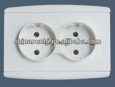 European Wall Double Socket / Electric Socket/Socket Outlet (SR-21112)