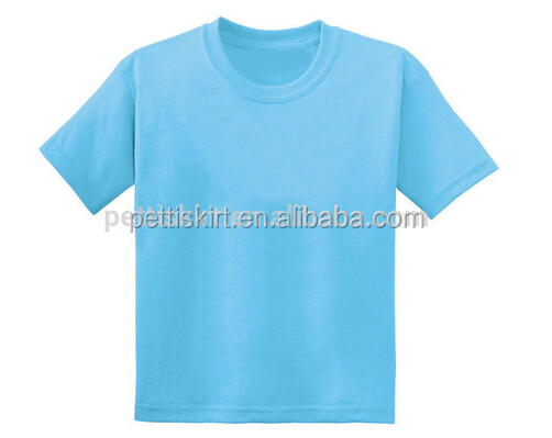 New Children Blank Tank Top Adult Cotton Plain O-neck T-shirts
