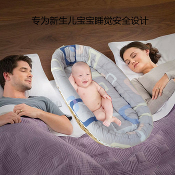 Hot sales wicker baby basket baby bed with net for lovely baby in night sleep