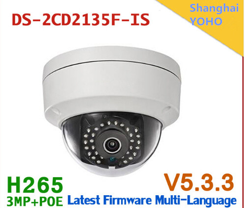 3.0MP Fixed lens vandal proof IR DWDR function dome ip web camera DS-2CD2135F-IS