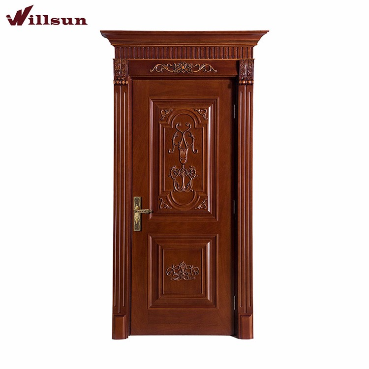 Beautifully carved wooden kerala style main door designs for New main door