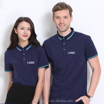 Custom Color Logo Clsssic Polo T Shirt Cheap Staff Work Uniform