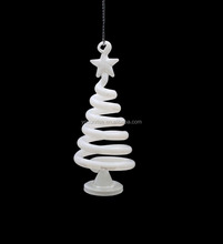 2017 christmas tree ornament spinners white hanging glass tree for holiday decoration