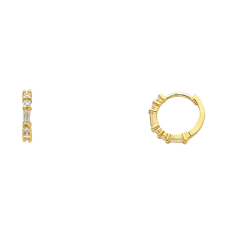 28366de51ff9f Buy Huggie Earrings Solid 14k Yellow Gold Small Huggies Hoop Round ...