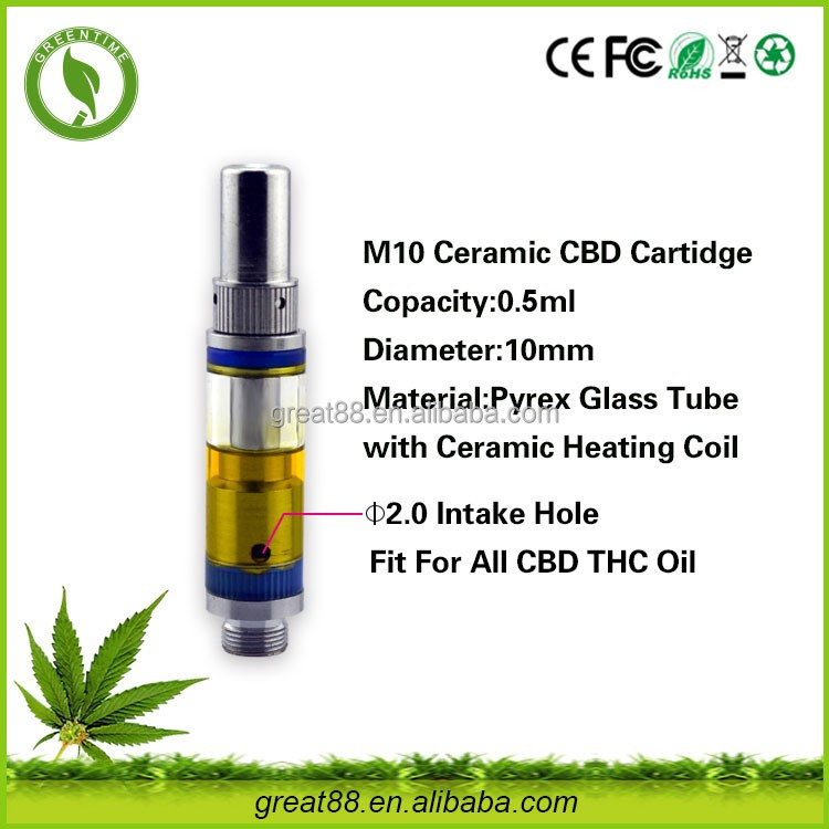 Greentime 0.5ml healthy ceramic coil disposable cartomizer bho extractor without glue