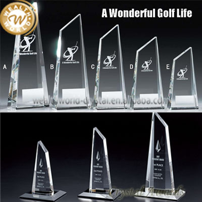 New product sports metal crystal trophy and award of Bottom Price