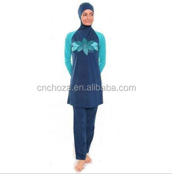 Z57059B islamic swimsuits islamic swimwear wholesale muslim women swimwear