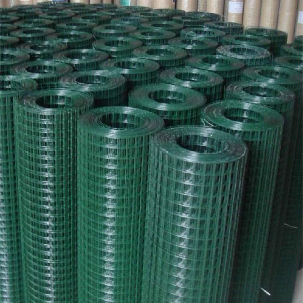 "2"" x 2"" Welded Wire Mesh Fence, Green Vinyl PVC Coated Welded Wire Mesh"