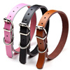 Genuine Leather Dog Collar Soft and Durable Real Cow Leather Made Pet Training Outdoor Sports Collars