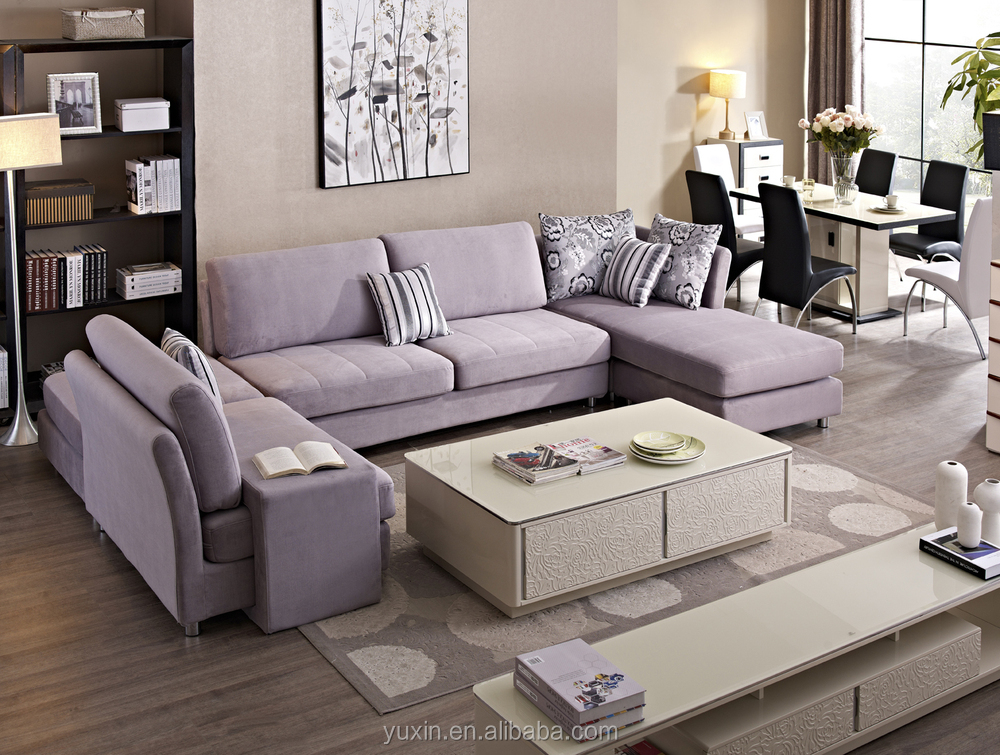 saudi arabia latest modern sofa design simple sectional sofa living room leisure fabric sofa : simple sectional sofa - Sectionals, Sofas & Couches
