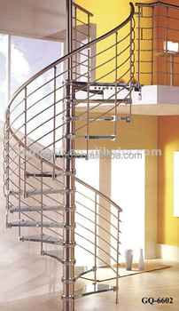 Indoor Stainless Steel Prefabricated Spiral Stairs