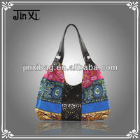 Beautiful printing fabric handbag wholesale market yiwu