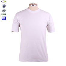 Blank white bulk plain organic cotton t-shirts