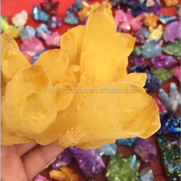 Wholesale Aura Quartz Cluster Colorful Aqua Aura Crystal For Sale Decorative Crystal Cluster