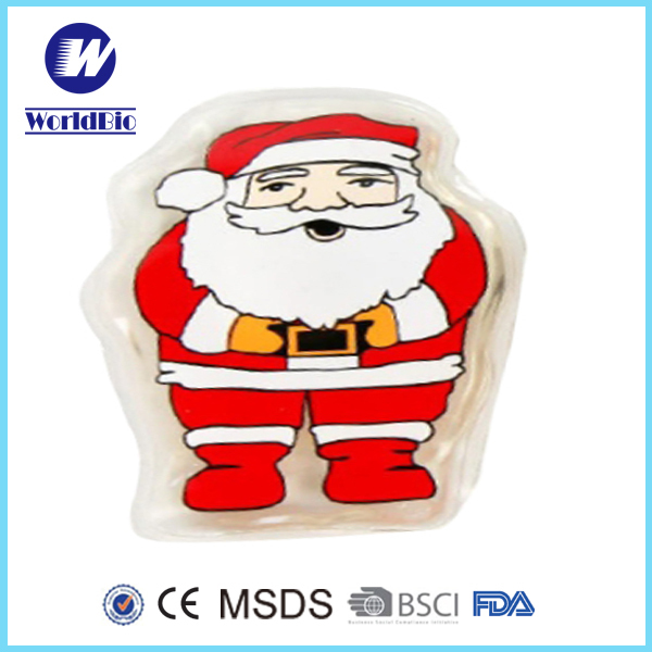 Reusable PVC Santa Claus Shape Heat Pack