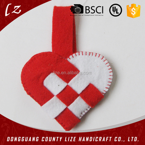 2015 new design heart shaped wall decoration,christmas hanging decoration heart
