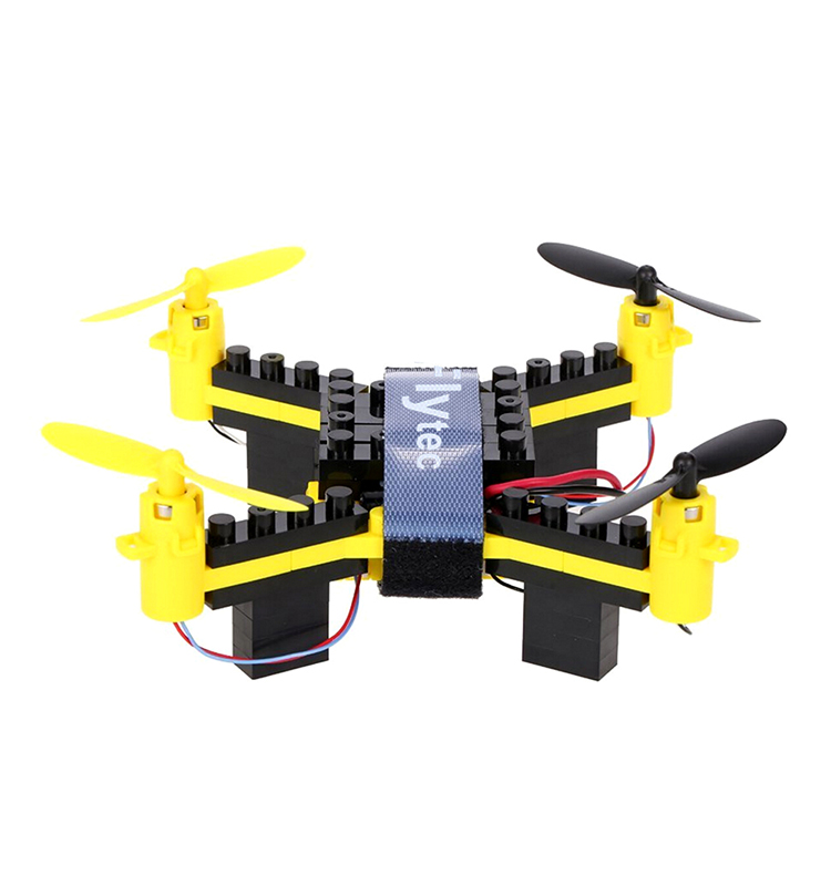 10. T11S_Yellow_WIFI_FPV_DIY_Building_Blocks_Drone_with_0.3MP_Camera_RC_Drone