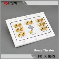 3-Gang 5.1 6.1 7.1 5.2 6.2 7.2 8.2 Surround Distribution Home Theater Wall Plate