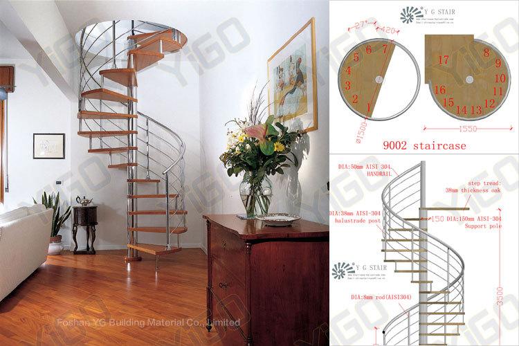 Acero Inoxidable Interior Escaleras De Caracol/alta Calidad De Acero ...