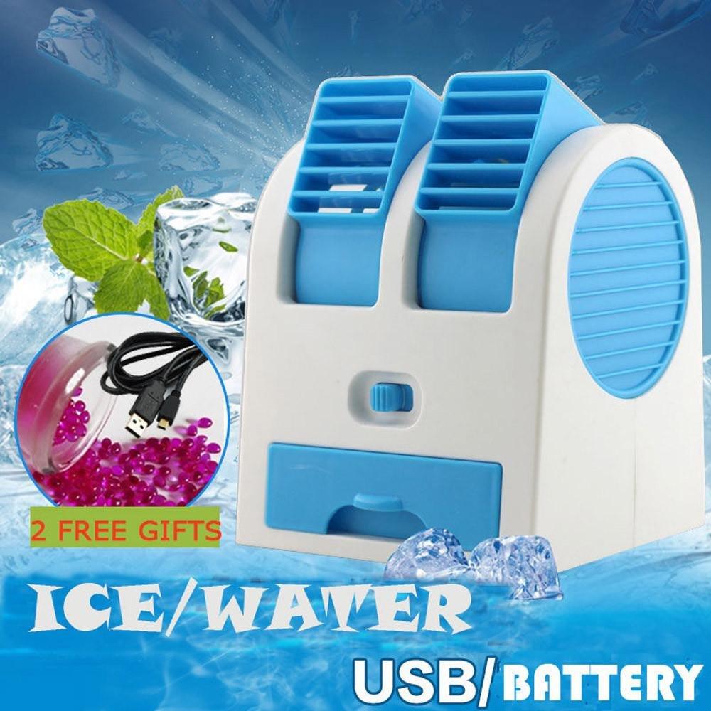 Makaor Portable Fan,Mini Fan,USB Fan,Portable Mini USB Air Conditioner Cooler Fan Rechargeable For Outdoor Desktop 11.6cmx10.9cmx13.6cm (LWT), Blue