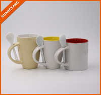 Cost-effective OEM Wholesale Colorful coffee mug sets with spoon holder