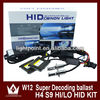 Top Quality 12 Months H13 9007 H4 h/l beam xenon light With W12 35W Universal Canbus HID Slim Xenon Ballast