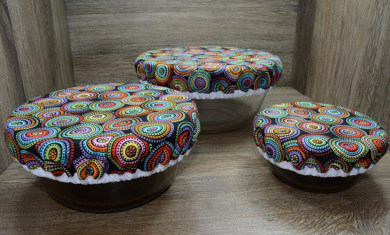 Eco-Friendly // Reusable // Bowl Covers // Set of 3 // Color Wheels