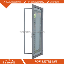 YY Home Australian Standards AS2047 grill design double glazed glass aluminium hinged doors